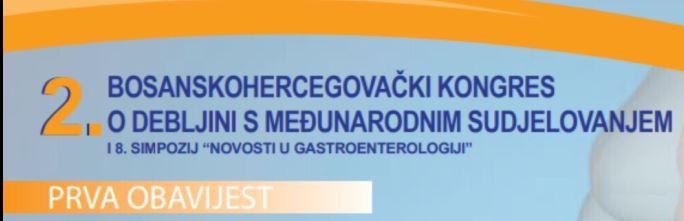 2. Bosanskohercegovački kongres o debljini sa međunarodnim sudjelovanjem